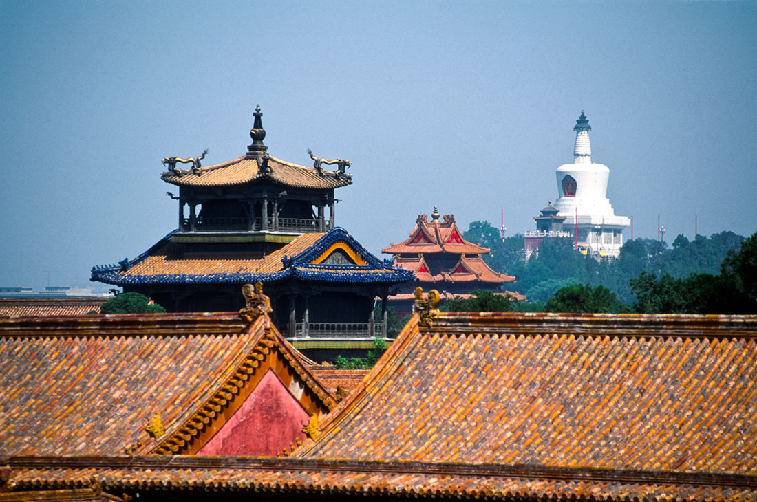 Forbidden city and white dagoba