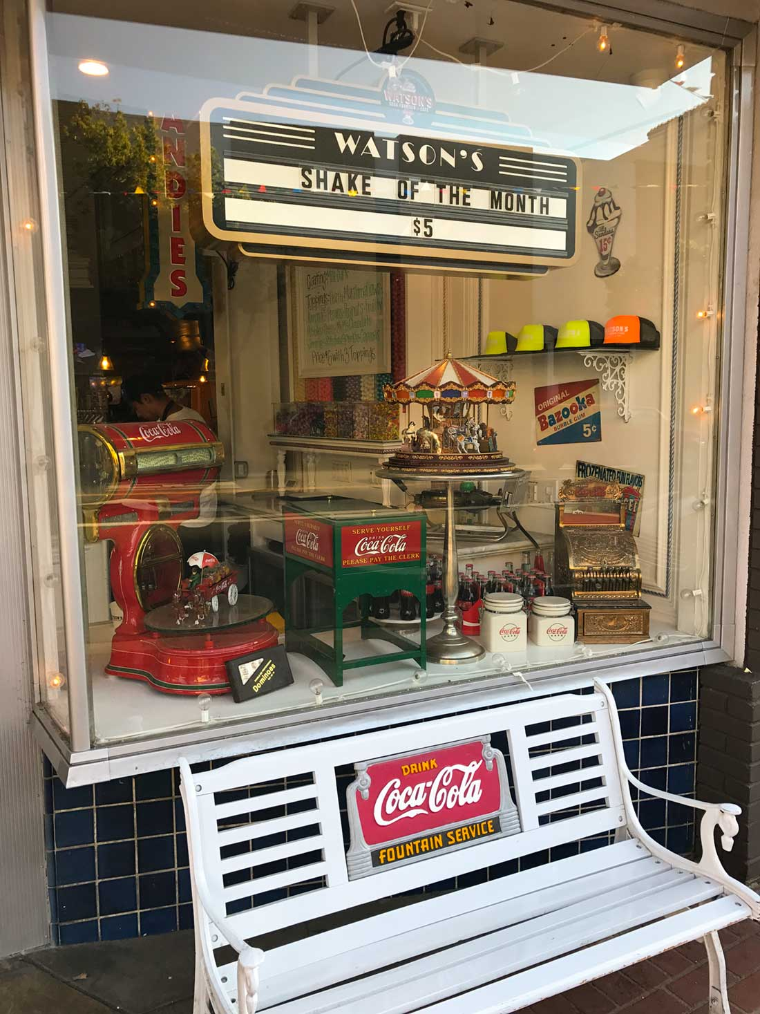 Watson's Soda Fountain and Cafe window