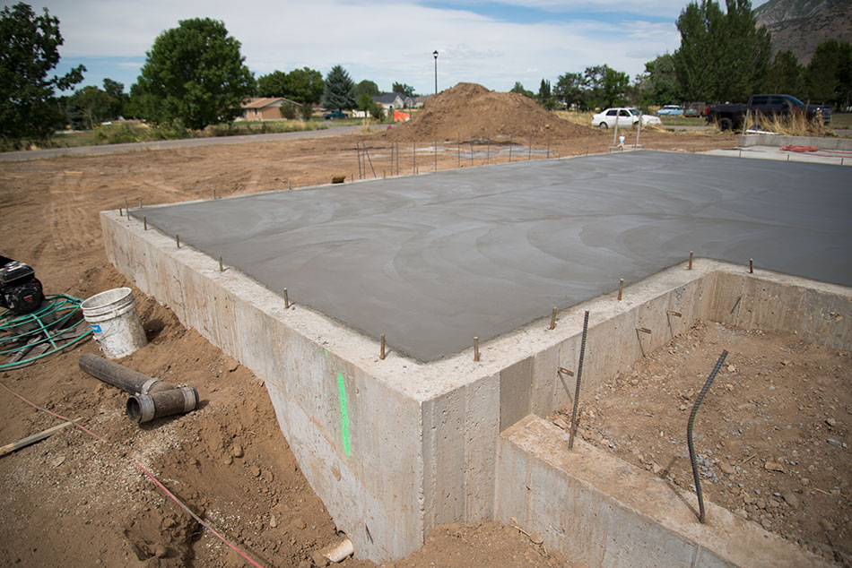 Concrete slabs hobble creek for How long to build a house after foundation is poured