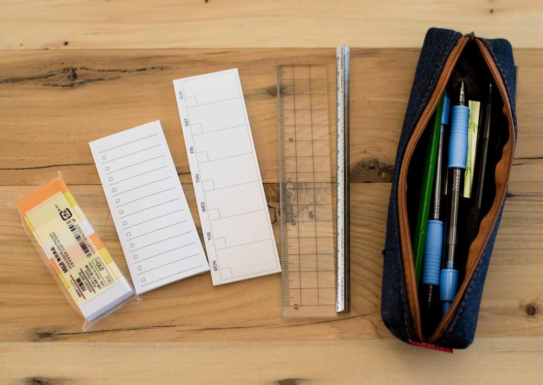 Muji desk items