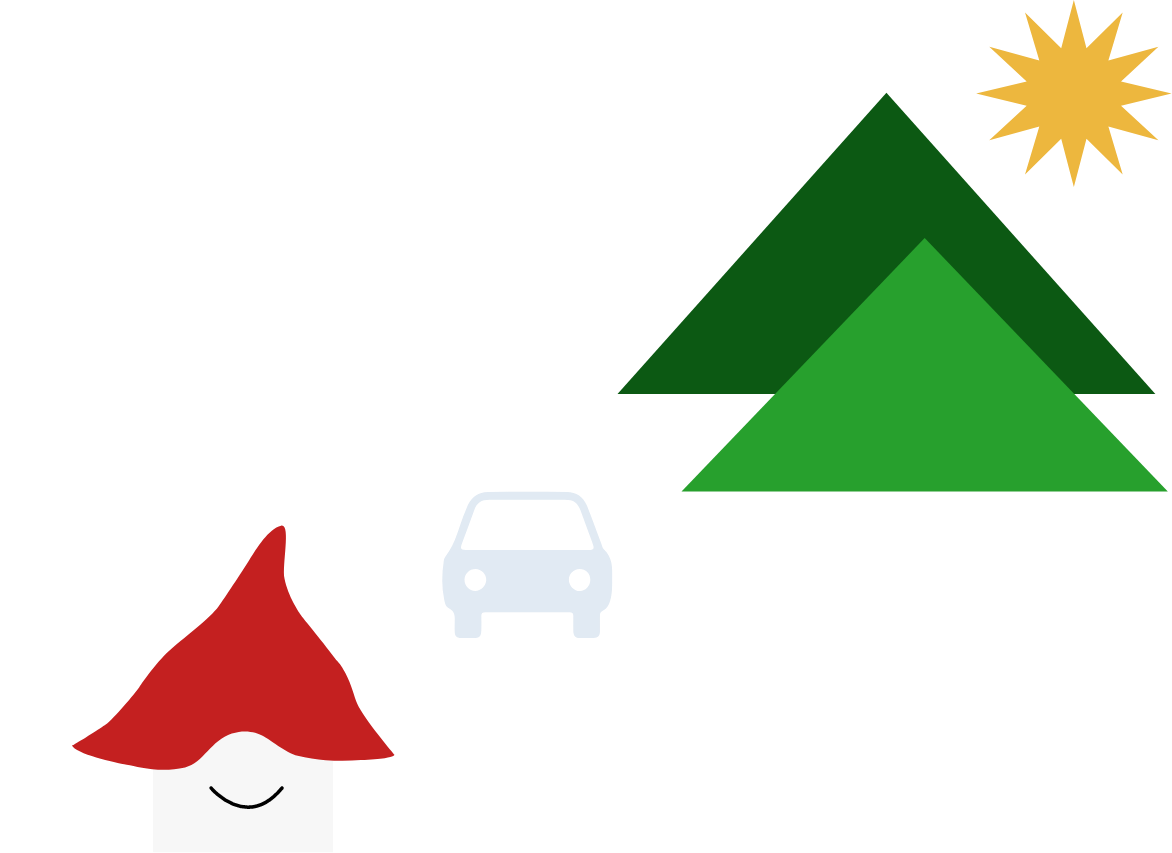 Mountains, sun car and a Home Gnome - Go enjoy your weekend!